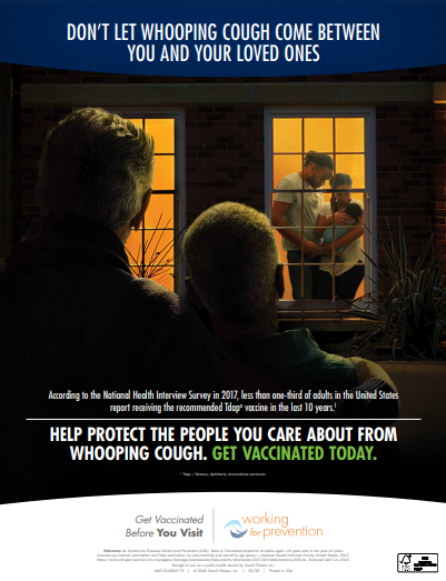 Working for Prevention Pertussis Poster 3