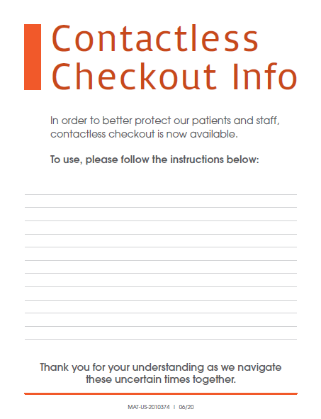 Clinic Guidebook: Contactless Checkout Sign 2