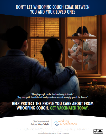 Working for Prevention Pertussis Poster 1